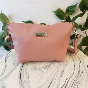 NWOT Bebe pink faux leather handbag